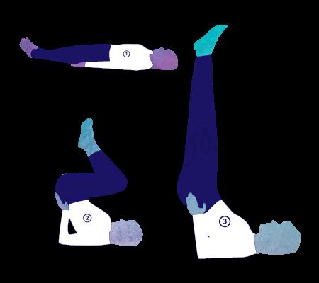 Posizione Yoga Viparita Karani