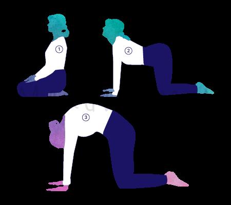 Posizione Yoga Marjari Asana (posizione del gatto)