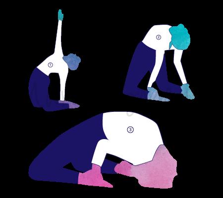 Asana Yoga Ustrasana (posizione del cammello)