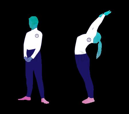 Asana Yoga Hasta Utthanasana (posizione con le braccia in alto)