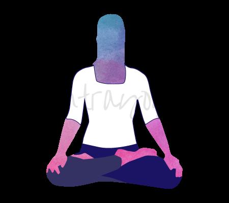 Asana Yoga Ardha Padmasana