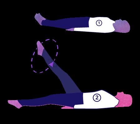 Chakra Padasana (rotazione della gamba)