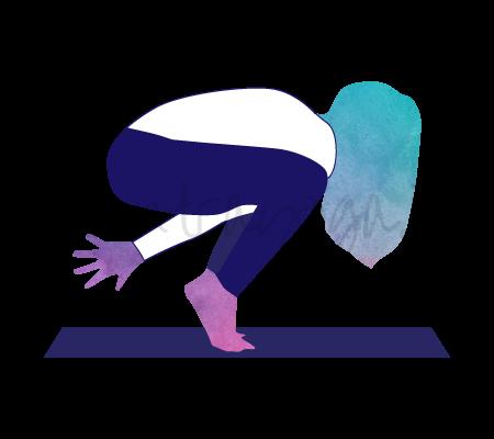 Asana Yoga Khanjanasana