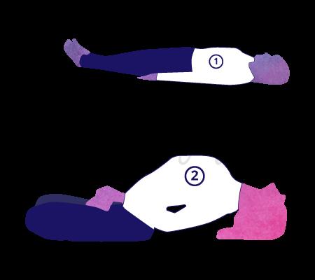 Matsyasana (posizione del pesce), variante per principianti