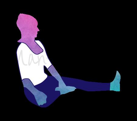 Posizione Yoga Ardha Titali Asana (mezza farfalla)