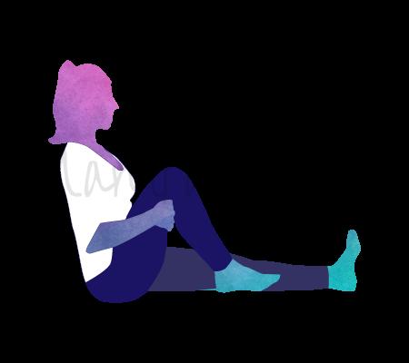 Posizione Yoga Janu Naman (flessione del ginocchio)