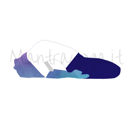 Supta Vajrasana (posizione del fulmine dormiente, detta anche del diamante)