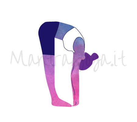 Uttanasana (il piegamento in avanti in piedi - variante semplice)